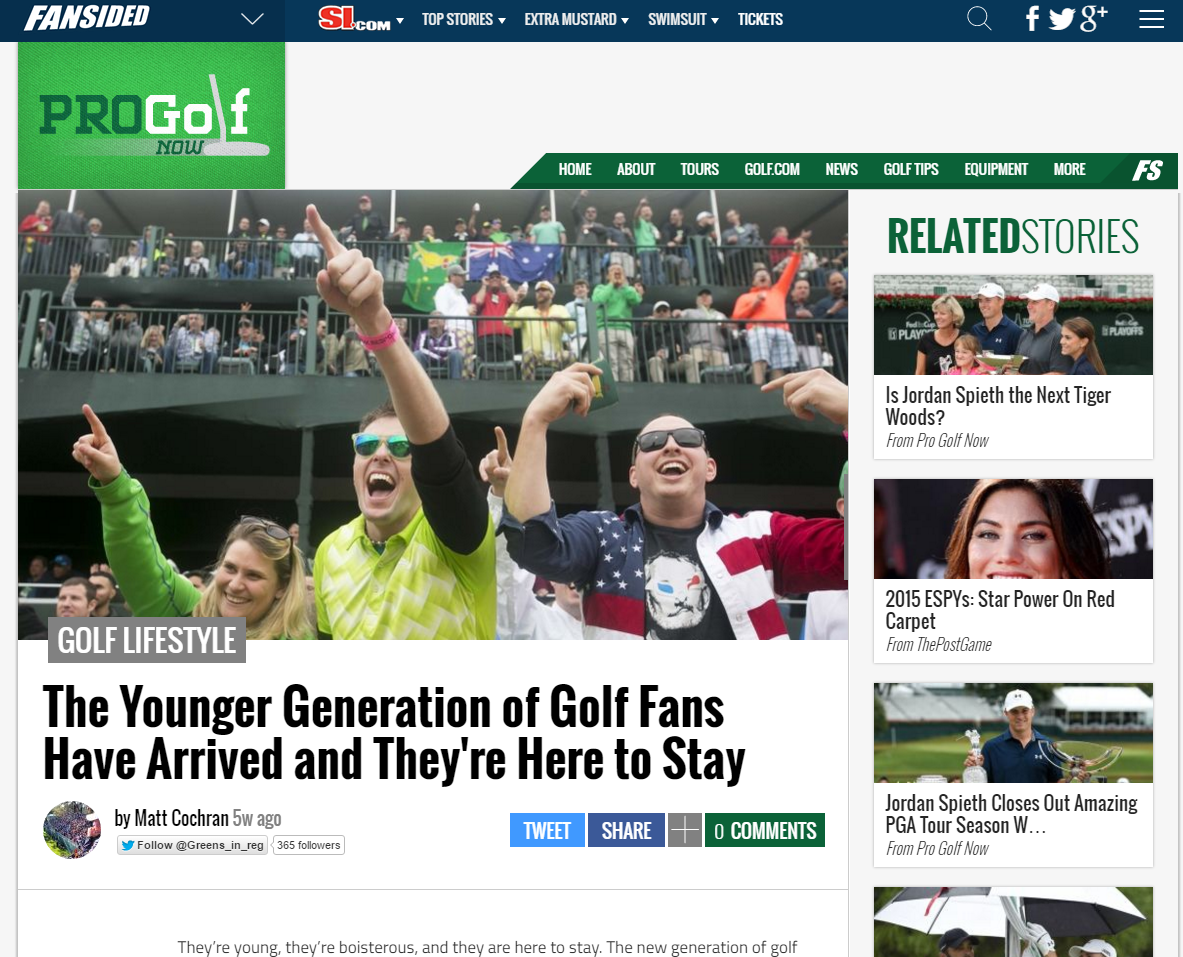 Blog. Young Golf