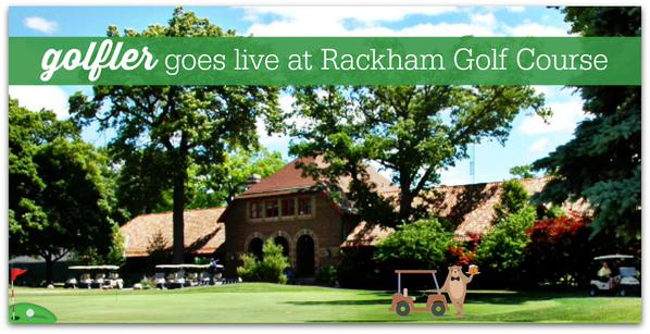 Golfler Goes Live at Rackham Golf Course