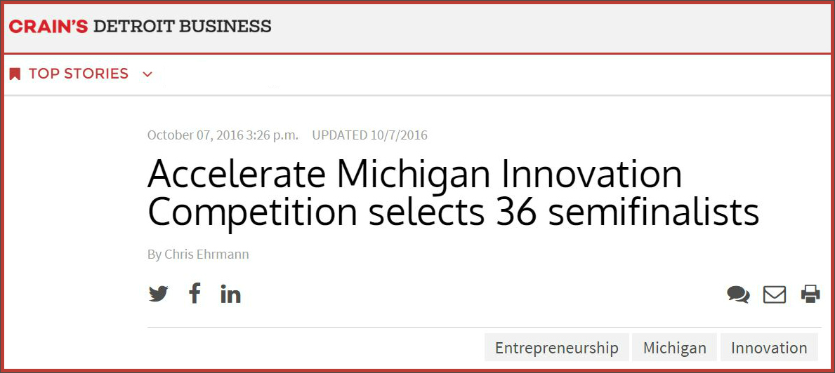 Accelerate Michigan Innovation Competition selects 36 semifinalists